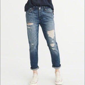 A&F Ames Slim Boyfriend Jeans
